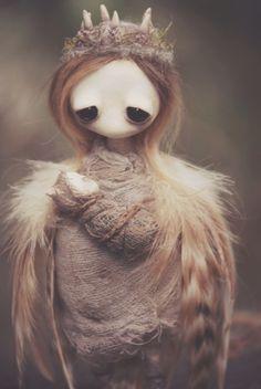 Fantasy | Whimsical | Strange | Mythical | Creative | Creatures | Dolls | Sculptures | mahlimae art doll | sculpture | fae Keka