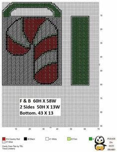 Plastic Canvas Christmas, Tote Pattern, Basket Bag, Plastic Canvas Patterns, Chicago Cubs Logo, Candy Cane, Mickey Mouse, Canvas Totes, Baskets