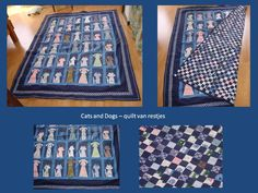 Cats and Dogs – quilt van restjes benalwaysbusy@gmail.com