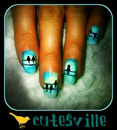 easy bird nail art - Google Search
