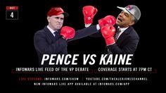 Pence Vs Kaine: Infowars LIVE FEED Of The VP Debate