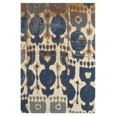 Jute rug in navy with an ikat motif.     Product: RugConstruction Material: JuteColor: Navy and copper Note: Please be aware that actual colors may vary from those shown on your screen. Accent rugs may also not show the entire pattern that the corresponding area rugs have.Cleaning and Care: Vacuum on hard floor setting