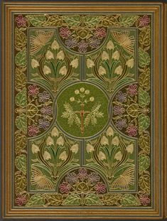 Front doublure of 'The Sensitive Plant and Early Poems' byPercy Bysshe Shelley (1792-1822).Book designer- Riviere & Son (1910).