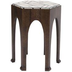 Vanguard Furniture Geometric Bone Rudolph Martini Table