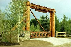 Log and timber entry gate