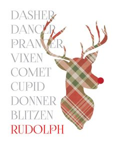 christmas free printable art PLAID!!!  and it is free!!
