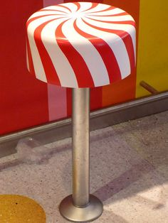 Love the Peppermint Striped Seats at Dylan's Candy Bar