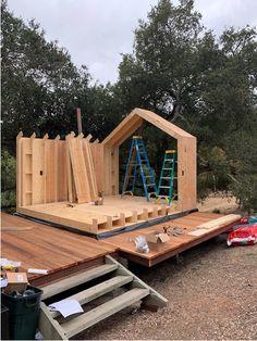 Gallery — The Bunkie Co. Cabin Design, Small House Design, Modern House Design, Ideas Cabaña, A Frame House, Tiny House Cabin, Wooden Cabins, Garden Buildings, Garden Office