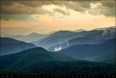 Blue Ridge Parkway WNC Photography - Evening Glow by Dave Allen Photography, via Flickr