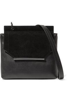 ff1df8b5e4 HALSTON HERITAGE WOMAN SUEDE-TRIMMED LEATHER SHOULDER BAG BLACK.   halstonheritage  bags