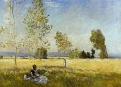 Monet ~ Meadow At Bezons 1874..