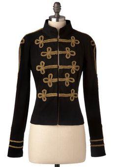 Steampunk ladies military-style jacket