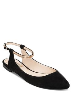 A pair of black flats like these can be paired with almost anything.  $79, Jessica Simpson.   - Redbook.com