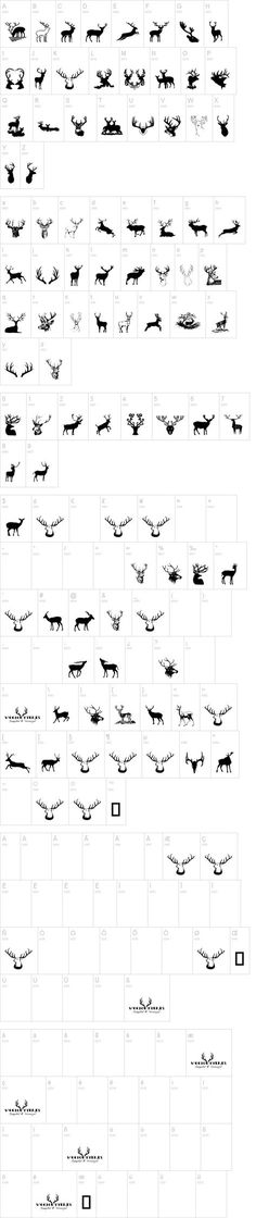 FREE Deer Dingbat Font   dafont.com use these for sillouettes for the cricut