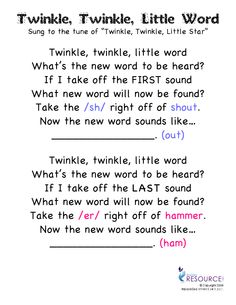 Song for dropping first and last phoneme sounds.