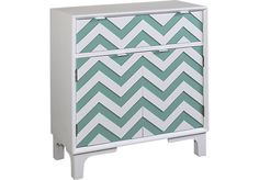 Shop for a Colorful Chevron Teal Accent Cabinet at Rooms To Go Kids. Find  that will look great in your home and complement the rest of your furniture.