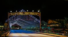 The Old Mill Winterfest Lights in Pigeon Forge, TN