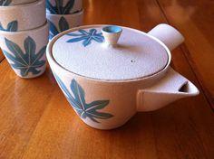 Mid Century Modern Japanese Tea Set  Turquoise by midcenturymeg, $35.00