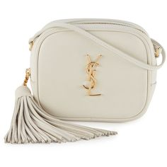 Saint Laurent Monogram Blogger Crossbody Bag (22.281.040 VND) ❤ liked on Polyvore featuring bags, handbags, shoulder bags, white, white cross body purse, shoulder strap bag, shoulder strap purses, crossbody shoulder bags and yves saint laurent purses