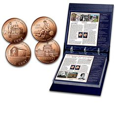 Commemorative Bicentennial Lincoln Cent Coins With Album