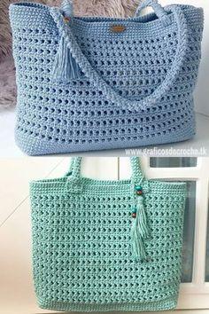 Toque na imagem para aprender croch passo a passo e ter acesso a gr ficos exclusivos - Diy Crochet Purse, Crochet Market Bag, Crochet Handbags, Crochet Purses, Crochet Bags, Crochet Drawstring Bag, Drawstring Bag Pattern, Knitted Bags, Learn To Crochet