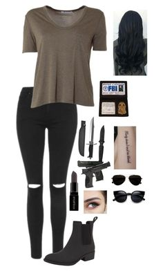 """"""":~You left and that messed me up. But than you came back and that messed me up even more~:"""" by xx-broken-ones-xx ❤ liked on Polyvore featuring Topshop, T By Alexander Wang, Jeffrey Campbell, Smashbox, Smith & Wesson, Whetstone Cutlery and Calvin Klein"""