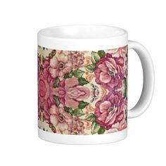 Floral Decorative Design Mug   arabesque, artistic, flowers, deco, decorative, pattern, delicate, design, fabric, floral, background, feminine, flower, multicolored, seamless, swirls, backgrounds, textile, texture, tileable, patterns, web