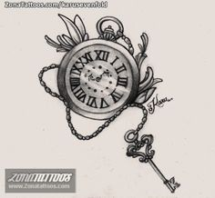Center of boobs Clock Face Tattoo, Clock And Rose Tattoo, Clock Tattoo Design, Compass Tattoo Design, Tattoo Designs, Pocket Watch Drawing, Pocket Watch Tattoos, Pocket Watch Necklace, Time Tattoos