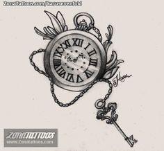 tatuajes reloj de bolsillo - Buscar con Google