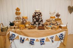 Relaxed Rustic Yorkshire Wedding Dessert Table http://www.johnhopephotography.com/