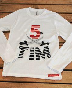 """Langarmshirts - Geburtstagsshirt """"Pirat"""" auch als 1,2,3,4,5,6 - ein Designerstück von Wichtelland bei DaWanda"""