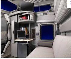 Kenworth W900 Interior Sleeper Area..