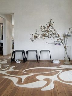 modernist stenciled floor patterns w. lustig inspiration painted floor Decking of your house one of the most remarkable interior architectural features. Selecting the floor cove. Slate Flooring, Flooring Options, Wooden Flooring, Flooring Ideas, Easy Flooring, Flooring Types, Ceramic Flooring, Garage Flooring, Terrazzo Flooring