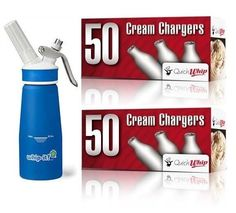 0.25 Litre Whip-It! Pro Plus Cream Whipper, Blue +100 Cream Chargers