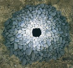 Andy Goldsworthy...an artist who uses stones to create beautiful art.