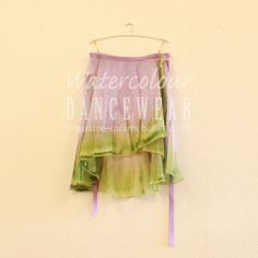 M丈シングル巻きスカート:Lilac maccha #watercolourdancewear #ballet #balletwear #dancewar #fashion #skirt q-ballet.com