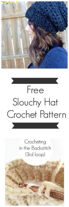 free slouchy hat crochet pattern from Sweet Everly B. Grab you r super bulky weight yarn & crochet this slouchy beanie in an hour!