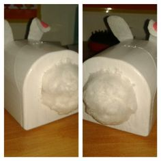 ~Cute bunny to store cotton~