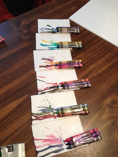 Crayon art Door Tags! I'm gonna write the names of the residents above the crayons! (: