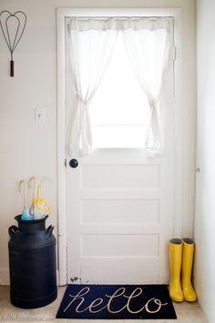 Simple farmhouse entry