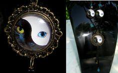 Glass Jewellery Sets – Jewelry SET - Black & White cat/ yin yang c... – a unique product by CamelysUnikatBijoux on DaWanda
