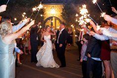 Sparkler wedding departure. M. Elizabeth Events