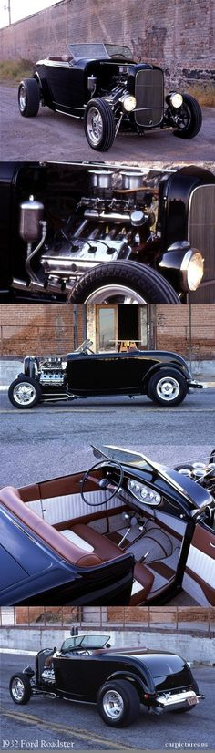 1932 FORD CUSTOM ROADSTER This one has the classic Hemi in it strap yourself in and get ready to spin it's a wild ride. Chevy Trucks, Old Trucks, 1932 Ford, Rat Rods, Ford Motor Company, Chevrolet Nomad, Bmw 327, Lamborghini, Ferrari