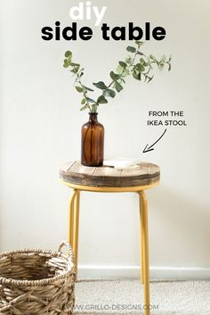 How to turn the IKEA MARIUS stool into an industrial side table / Grillo Designs www.grillo-designs.com