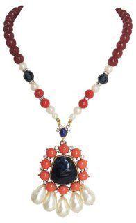 Gerard Yosca Faux-Baroque Pearl Necklace