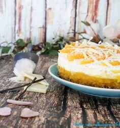 Diese köstliche, leichte und erfrischende No bake Kokos Mango Torte ist einfach ein Muss im Sommer. Frisch aus dem Kühlschrank und ohne backen zubereitet.
