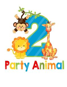 Party Animal Birthday, Jungle Zoo Animals Birthday Number, Printable, digital download, DIY You Print for iron-ons, heat transfers, scrapbooking, tags, decoupage, or anything you care to create. YOU PRINT.  INSTANT DOWNLOAD: After purchase you will be able to download your files from your Etsy Safari Theme Birthday, Lion Birthday, Happy Birthday Kids, Animal Birthday, Jungle Party, Safari Party, Birthday Numbers, Number Birthday Cakes, Safari Baby Shower Cake