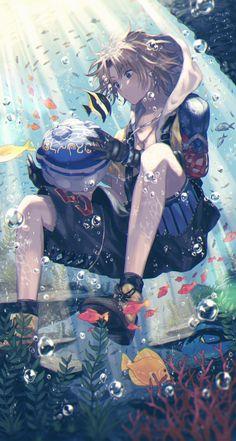 Tidus - Final Fantasy X - Image - Zerochan Anime Image Board Artwork Final Fantasy, Arte Final Fantasy, Fan Art Anime, Anime Artwork, Cute Anime Guys, Anime Boys, Anime Fantasy, Fantasy Men, Fantasy Makeup