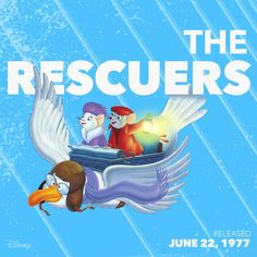 Today in Disney History: Bernard and Miss Bianca saved the day back in 1977. Now you can bring home the adventure with The Rescuers 2-movie collection today, available on Disney Movie Rewards: http://www.disneymovierewards.go.com/rewards/rescuers-2mv-bdc-1092730?cmp=DMR|PIN|Rewards|Rescuers
