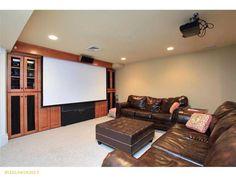 Media Room  #hometheater #bigscreen #cumberlandme
